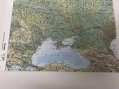 2007 Map Of Western Russian Federation, Iceland, Estonia Latvia Finland Poland 4