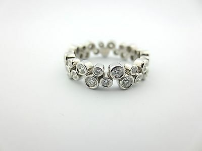 a3cb4ce9d 2 2 of 9 Tiffany & Co. Bubbles Platinum Wedding Diamond Band Ring .96Ct Size  6.75 Papers!
