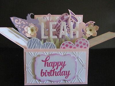 Handmade 3d Birthday Card In A Box Fairies Personalised 717