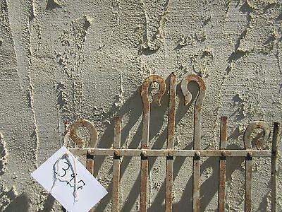 Antique Victorian Iron Gate Window Panel Fence Architectural Salvage Door #397 4