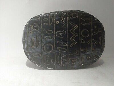 RARE ANTIQUE ANCIENT EGYPTIAN Scarab Beetle Carved Stone 1445-1540 Bc 2