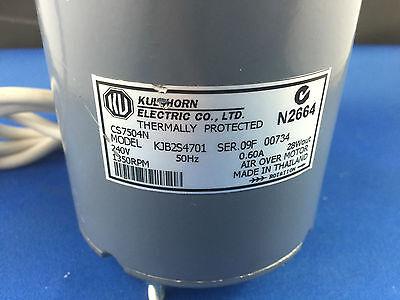 KULTHORN  CONDENSER FAN MOTOR 28W out  0.60AMP 1350RPM KJB2S4701 HUB SHAFT 2