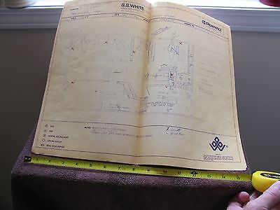 Vintage 1972 Building Blueprints for Dentist Office in California -Pennwalt Corp 4