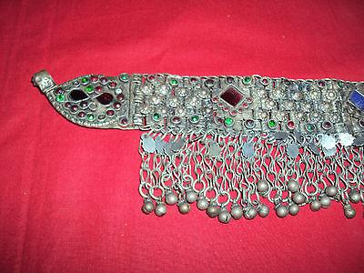 Gorgeous Antique Greek Silver Head Necklace Rare Folk Wear Origin Balkans Old 4