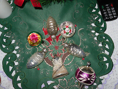 Christbaumkugeln Glas Bunt.Alte Ddr Christbaumkugeln Glas Bunt Silber 50er 60er Jahre