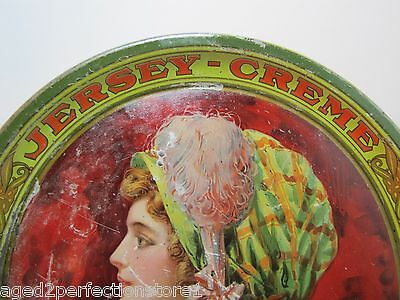 Antique JERSEY-CREME The Perfect Beverage Adv Tray at fountains also in bottles