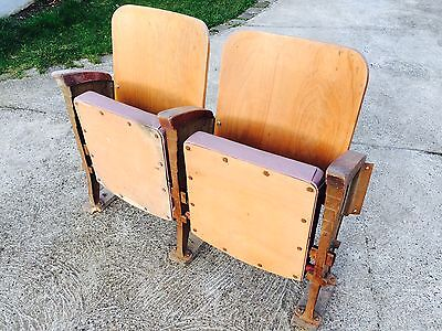 5 Seats Armchair Folding seats Chair Cinema Theatre banc indus vintage retro 3