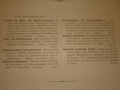 Gothische Holz-Architektur 1870 German Gothic Architecture Folio Huge 48 Plates 4