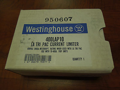 Westinghouse LA Tri-Pac Current Limiter #400LAP10 600VAC New Surplus In Box