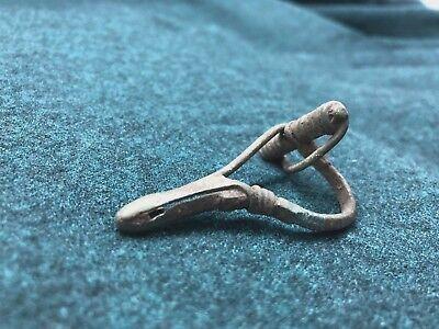 Antique Bronze Clasp Brooch 5