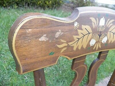 Set Of 3 Stenciled Decorated Plank Seat EBERSOL Chairs PA. 1987 Rustic Primitive 7