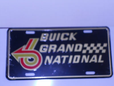 Buick Grand National T-type License Plate Stamped black Red Silver License Plate