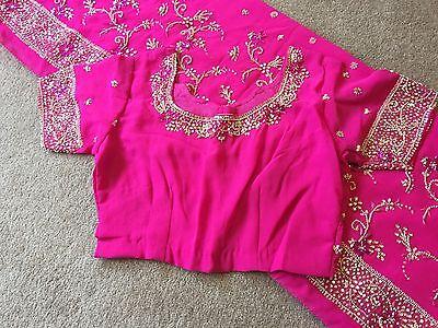 Saree- Bollywood Fashion Wedding Party Wear Heavy Designer Sari Indian Asian 6