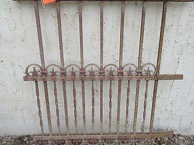 Antique Victorian Iron Gate Window Garden Fence Architectural Salvage Door #316 3