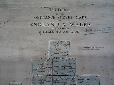 Ordnance Survey Index 2 mile maps 1910? Exeter Sudbury Nottingham Grimsby Hexham 2