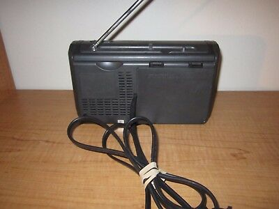 SONY ICF-36 PORTABLE RADIO Weather TV FM AM Band Radio - Tested Black WORKING 3