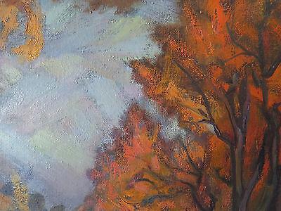 Paesaggio Autunnale Quadro Antico Dipinto Ad Olio Su Tela Firmato