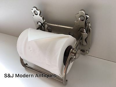 Unusual Toilet Roll Holder Chrome Novelty Vintage Victorian Silver Shabby Chic 7