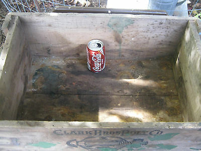 Antique Primitive Ct Country Hardware Store Wood Box Clark Bolt Co Usa Tool Sign 5