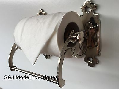 Unusual Toilet Roll Holder Chrome Novelty Vintage Victorian Silver Shabby Chic 9