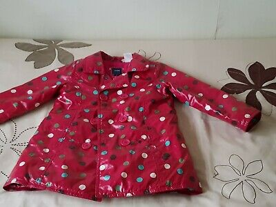 Baby GAP Girl's Red Spotted Raincoat - SIZE 3yrs 8