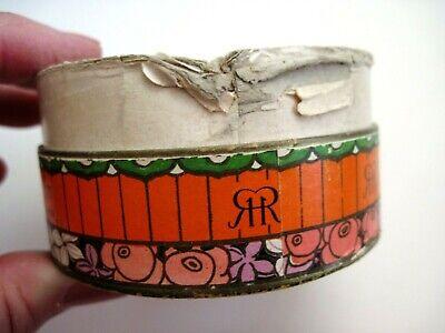 "Vintage Powder Box ""Three Flowers"" Face Powder - ""Richard Hudnut "" Art Deco  * 8"