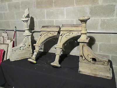 ~ Set 4 Spectacular Antique Corbels ~ 29 Tall ~ Architectural Salvage 11
