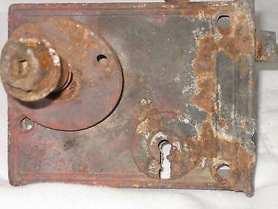 "4.5"" Antique Cast Iron Door Lock With Porcelain Knob 6"