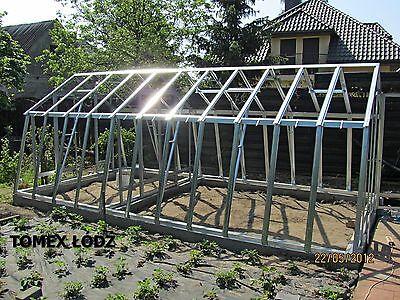 Stahl Gewachshaus 3x3m 9m2 Metall Glas Treibhaus Eur 1 270 00