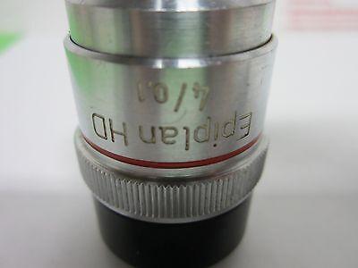 Microscope Objective Zeiss Allemagne Ld-Epiplan 4x Long la Optiques Bin #P4-98 2