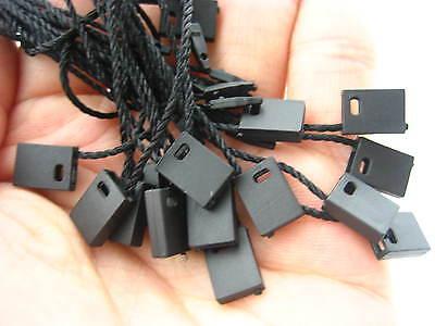 100pcs black Tag hang tag String square Lock Fastener Labeling Tagging Supplies 6