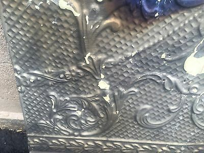 "GORGEOUS antique VICTORIAN tin ceiling pressed edge pattern 4 - 24"" sq pcs AS IS"