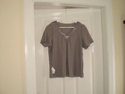 """Blouse""""Per Una"""" M&S Sleepwear Grey Colour Size:14 ( UK ) New With Tags 5"""