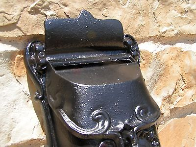 Cast Iron Reproduction mailbox suggestion box Black Victorian style 5