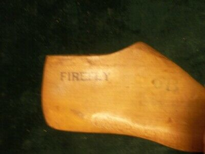 Pair Vintage Maple Wood Size 7 B FIREFLY GEBL Co Shoe Factory Last #F-3