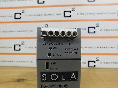 Sola SDN 2.5-24-100P Power Supply 115/230Vac, 1.3-.7A, 50/60Hz Used BPP 3