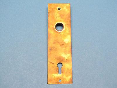 Antique Victorian Solid Brass Plate Eastlake Door Knob Backplate Back Plate 2