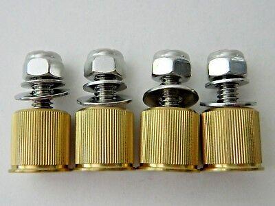 NEW 4 pk Milwaukee Twins 20 Gauge Brass Shotgun Shell Bullet License Plate Bolts 4