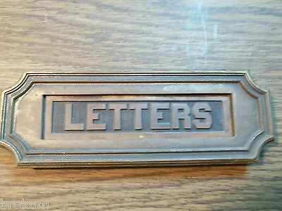 Antique Sargent Heavy Solid Bronze Art Deco Mail Slot Drop-Pass Through W/spring 2