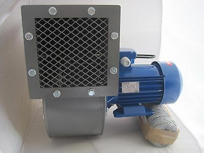 Industrial Centrifugal Fan Blower 2400m3/hr 2900rp Fume Extract Biomass Powerful
