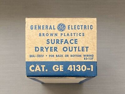 GE GENERAL ELECTRIC SURFACE RECEPTACLE 220 DRYER A/C 30A 250v GE 4130-1 3