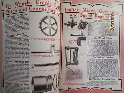1916 Hartman Co Majestic Gas Engine Catalog All sizes, hit miss, mags, pumps 6
