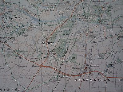 """Ordnance Survey Map 2.5"""" SY68/78 Weymouth N 1969 Dorchester S. Maiden Castle 4"""
