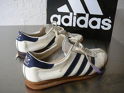 Details about Original Vintage ADIDAS REKORD Trainer UK size 10 RARE white & grey