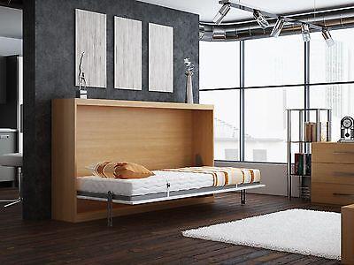 SCHRANKBETT / Wandbett / Klappbett -Singlo-90x200 cm Quer- Holzfarbe ...