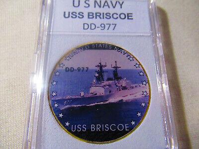 USS BRISCOE DD 977 Parking Sign US Navy USN Military
