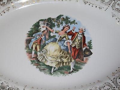 Antique Lovely Rare SABIN Dishware Warranted 22K Serving Dish 3
