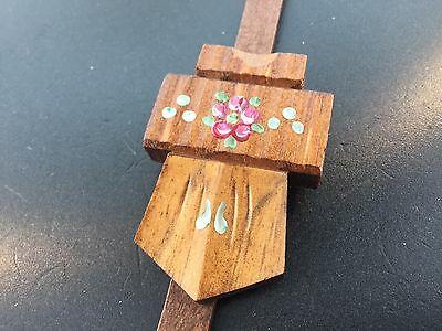 Cuckoo Clock Pendulum Small Hand Painted Chalet Shield German 2
