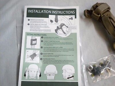 Ach & Ech Improved H-Nape Retention System Head-Loc Chin Strap S/M/L/Xl New 3851 5