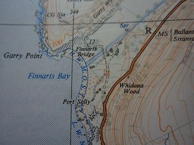 "Ordnance Survey 2.5"" Map NX07 Mouth Loch Ryan 1961 Milleus Point Corsewall Poi 5"